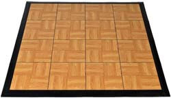 8. Greatmats Portable Dance Floor Wood Grain 4x4 Ft Kit Tap Dance