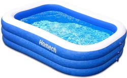 1. Homech Family Inflatable Swimming Pool