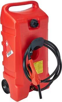 1. DuraMax Flo n' Go LE Fluid Transfer Pump and 14-Gallon Rolling Gas Can