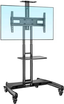 10. NB North Bayou Mobile TV Cart TV Stand