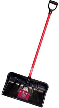 10. Bully Tools 92814 Combination Snow Shovel with Fiberglass D-Grip Handle, 22-Inch
