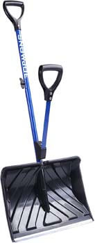 1. Snow Joe SJ-SHLV01 Shovelution Strain-Reducing Snow Shovel