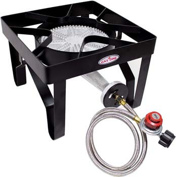 4. GasOne 200, 000 BTU Square Heavy- Duty Single Burner Outdoor Stove
