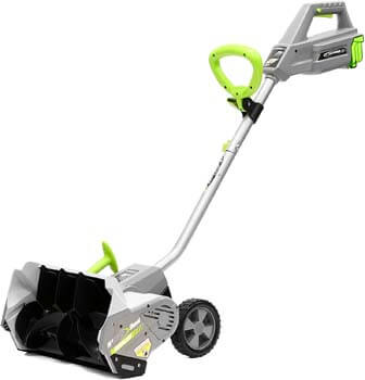 1. Earthwise SN74016 40-Volt Cordless Electric Snow Shovel