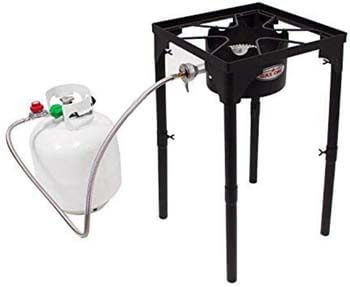 7. GasOne Portable Propane 100, 000-BTU High-pressure Single Burner Camp Stove