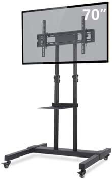 4. TAVR Mobile TV Stand Rolling TV Cart Floor Stand