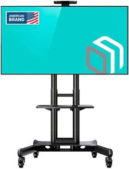 9. ONKRON Mobile TV Stand with Mount Rolling TV Cart