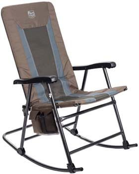 9. Timber Ridge Camping Rocking Chair Padded Folding Lawn Chair