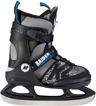 5. K2 Skate Boy's Raider Ice Skate, Gray Black