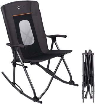 8. PORTAL Oversized Quad Folding Camping Rocking Chair