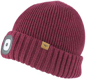 8. SEALSKINZ Unisex Waterproof Cold Weather Led Roll Cuff Beanie