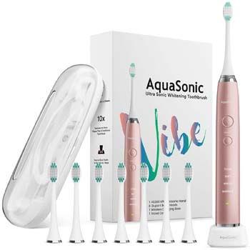 5. AquaSonic VIBE Series Ultra Whitening Pink Electric Toothbrush
