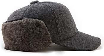 4. Fancet Men Winter Elmer Fudd Women Earflap Baseball Cap Hunting Cold Weather Hat 56-61cm