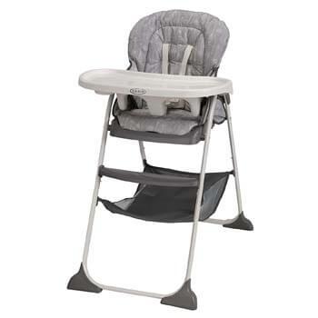 5. Graco Slim Snacker High Chair | Ultra-compact High Chair, Whisk