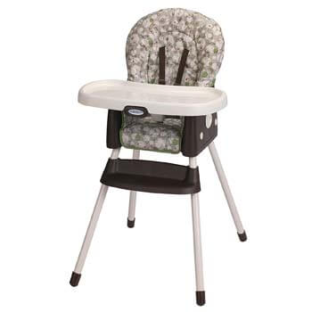 7. Graco Simple Switch Portable High Chair and Booster, Zuba