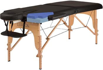 6. Luxton Home Premium Memory Foam Massage Table - Easy Set Up - Foldable & Portable