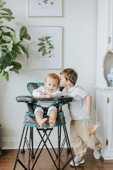 6. Baby Delight Go with Me Uplift Deluxe Portable High Chair