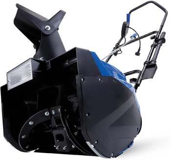 1. Snow Joe SJ623E Electric Single Stage Snow Thrower   18-Inch   15 Amp Motor   Headlights