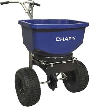 8. Chapin 82108 100-Pound Professional Salt and Ice Melt Spreader