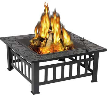 6. ZENY Outdoor 32'' Metal Fire Pits