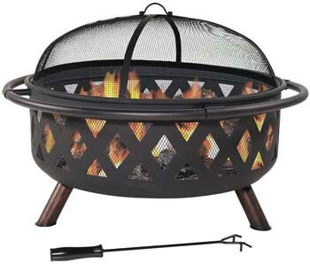 7. Sunnydaze Crossweave Outdoor Fire Pit