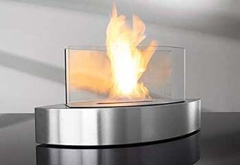 4. Sharper Image Tabletop Fireplace – Black