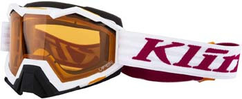 4. KLIM Viper Snow Goggle Linkage White Persimmon