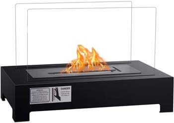 9. Tangkula Ethanol Fireplace