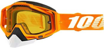 5. 100% Racecraft Adult Snowmobile Goggles - Crush 2/Yellow Vented Lens/One Size