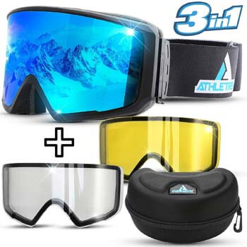 9. Athletrek Ski & Snowboard Goggles