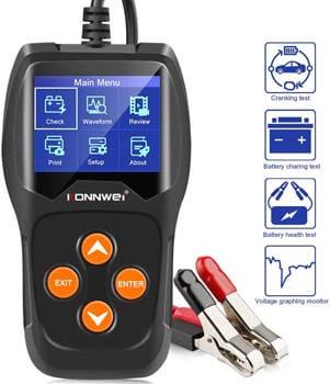10. KONNWEI KW600 12V 100-2000 CCA 220AH Car Battery Load Tester
