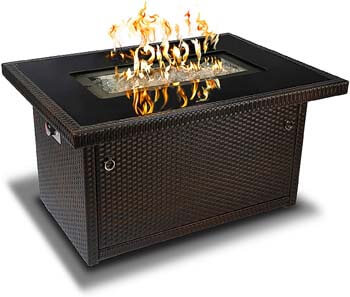 3. Outland Living Series 403-Espresso Brown Fire Table, Espresso Brown/50,000 BTU