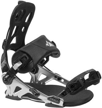 10. System Pro All Mountain Men's Rear Entry Step in Style Snowboard Bindings 2020