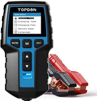 9. TOPDON BT200 100-2000CCA Automotive Alternator Tester