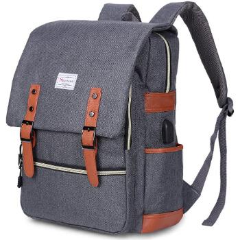 1. Modoker Vintage Laptop Backpack