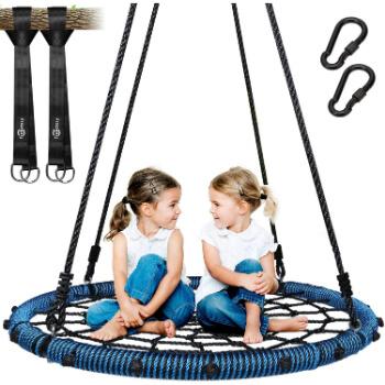 10.. Trekassy 660 lb Spider Web Swing 40 inch for Tree Kids