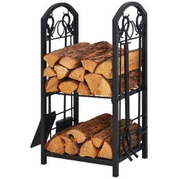 1. Patio Watcher Firewood Rack